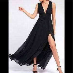Long Black Bridesmaid Dress-Heavenly Hues-Lulus